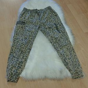 Vintage Havana Leopard Cargo Pants